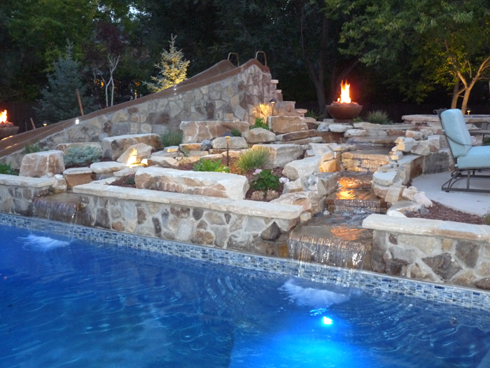 Pool, Slide, Firepit